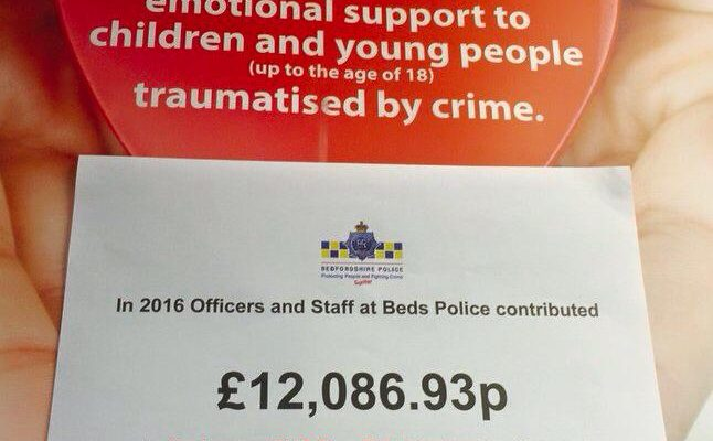 Beds Police raise £12000 for Embrace