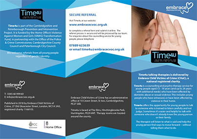 Time 4 U - talking therapies for young victims of crime