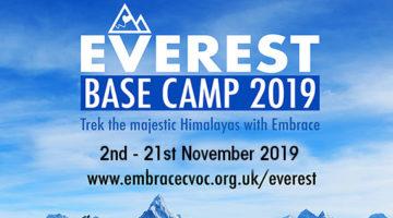 Everest base camp challenge 2019 - Embrace CVOC