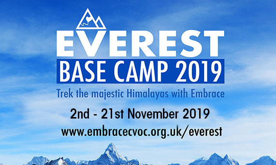Everest base camp challenge 2019 - Embrace CVOC