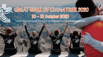 Great Wall of China challenge 2020 with Embrace Child Victims of Crime